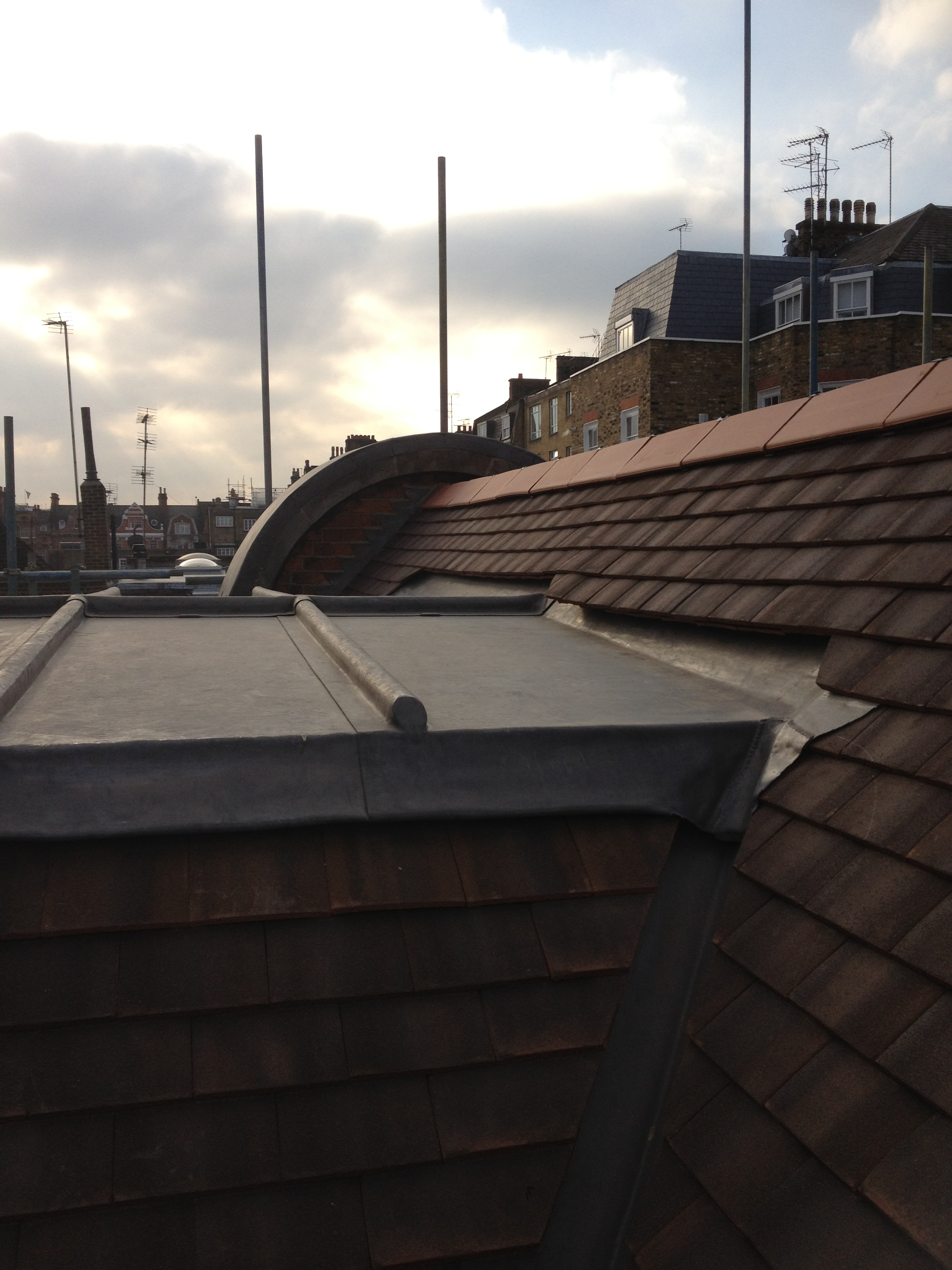 Clay Tile Amp Lead Roof